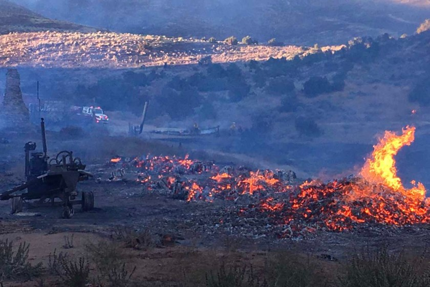 Jasper Fire north of Sun Valley, Nevada