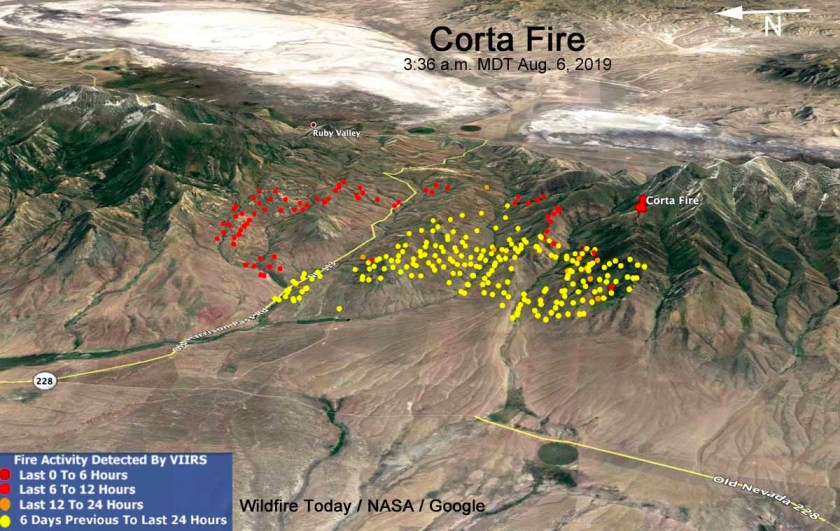Map Corta Fire