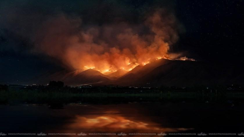Goose Point Fire Provo, Utah