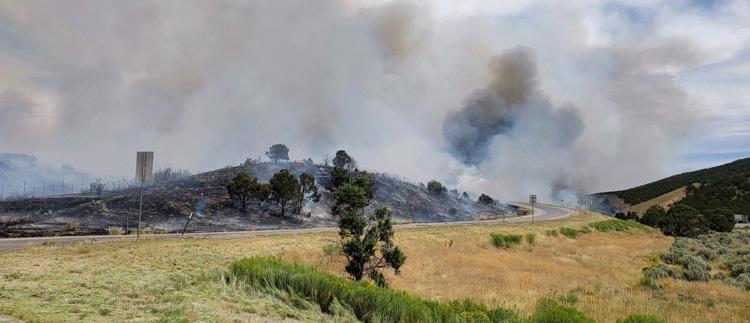Utah milepost 122 wildfire