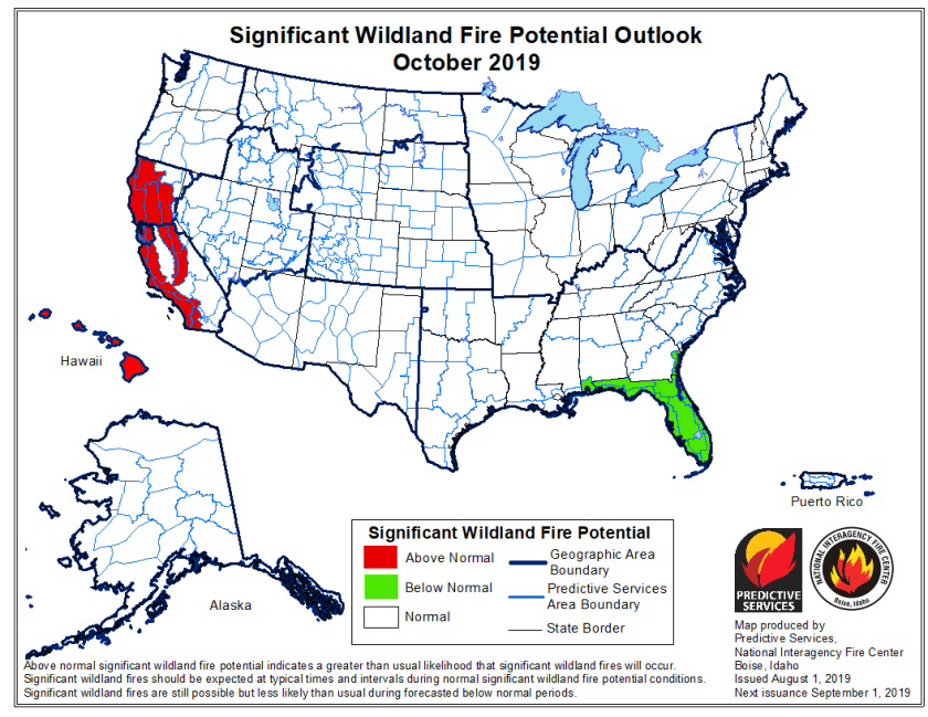 October wildfire outlook