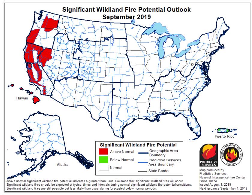 September wildfire outlook