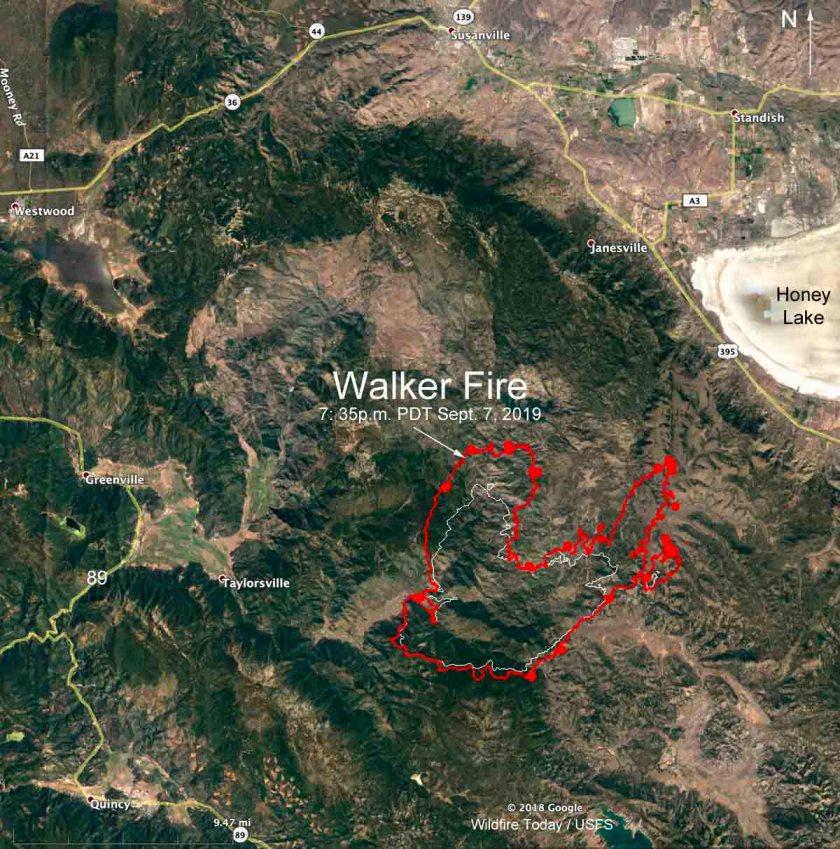 Map Walker Fire