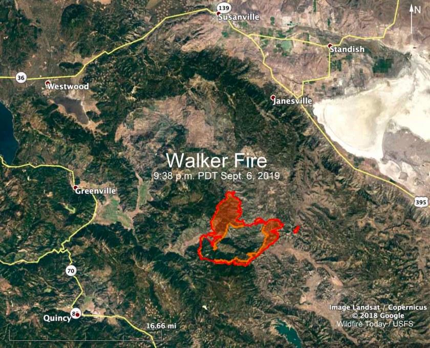 Walker Fire Susanville Quincy