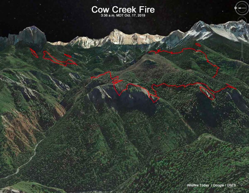 map cow fire colorado ridgway