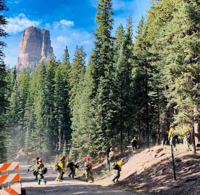 Helena Regulars 20 person handcrew Cow Creek Fire