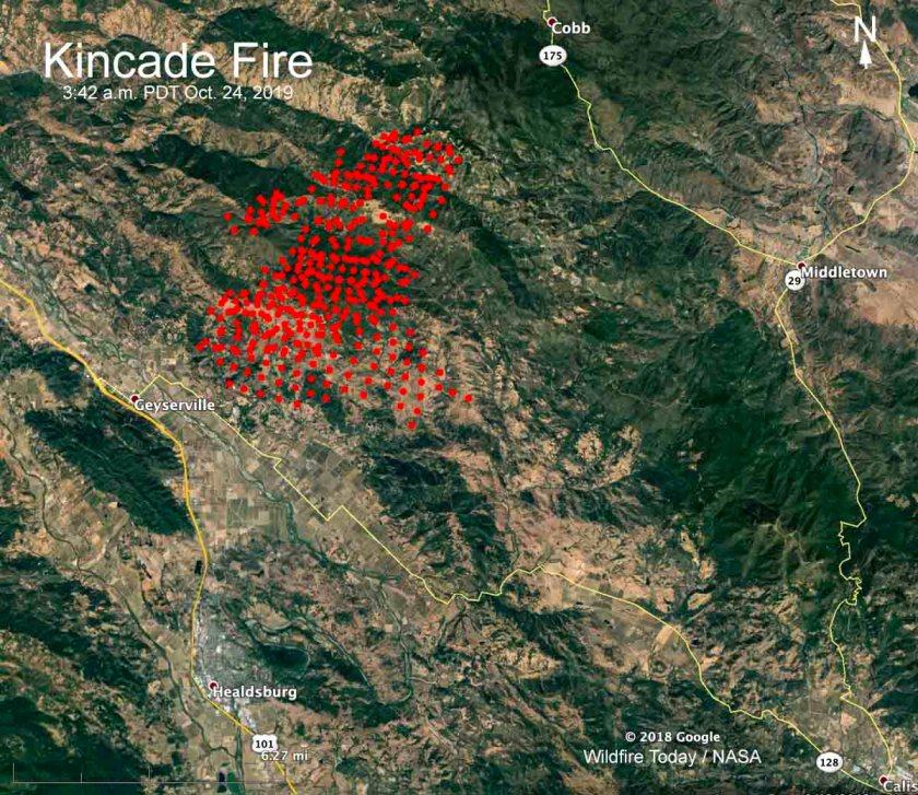 map Kincade Fire