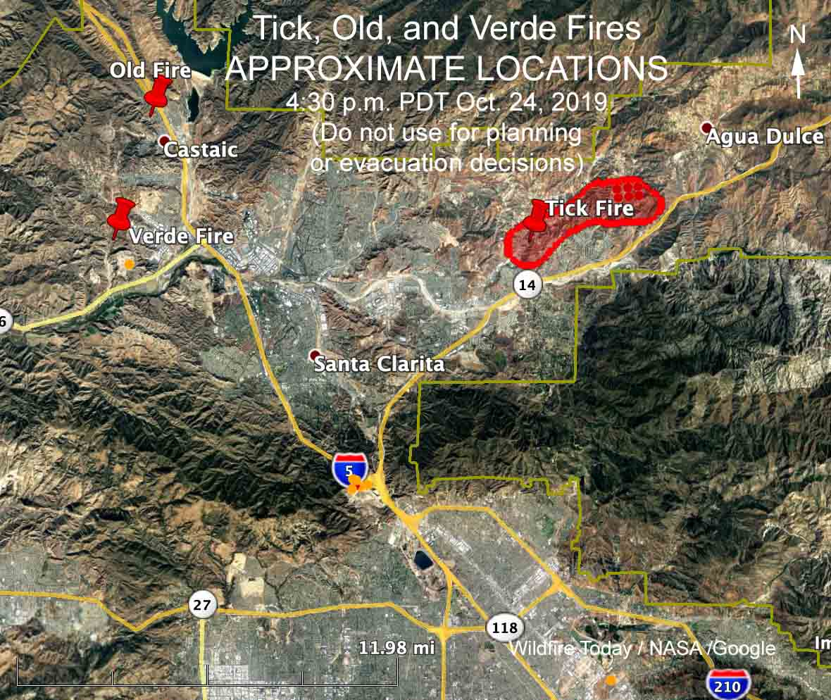 The Tick Fire spread rapidly north of Los Angeles Thursday ... Santa Clarita Fire Map on oakland fire map, carmel valley fire map, soda springs fire map, austin fire map, san marcos fire map, weed fire map, newhall fire map, oceanside fire map, chino hills fire map, weaverville fire map, burney fire map, solano county fire map, rancho cucamonga fire map, ukiah fire map, monterey fire map, fresno fire map, antioch fire map, san bernardino fire map, trinity county fire map, clearlake fire map,