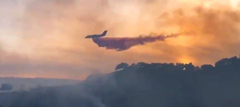 air tanker Bar Fire escaped prescribed burn