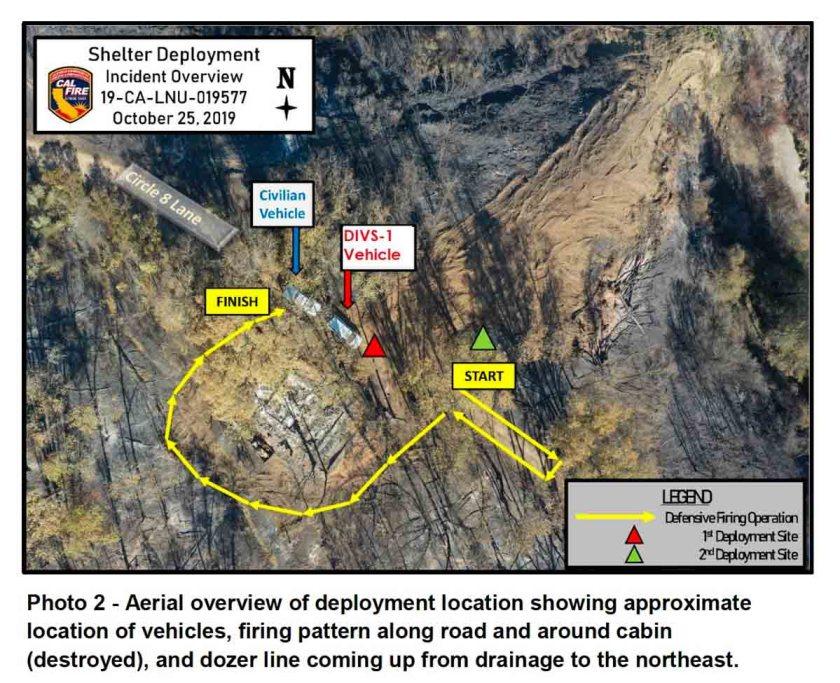 photo Kincade Fire entrapment deployment
