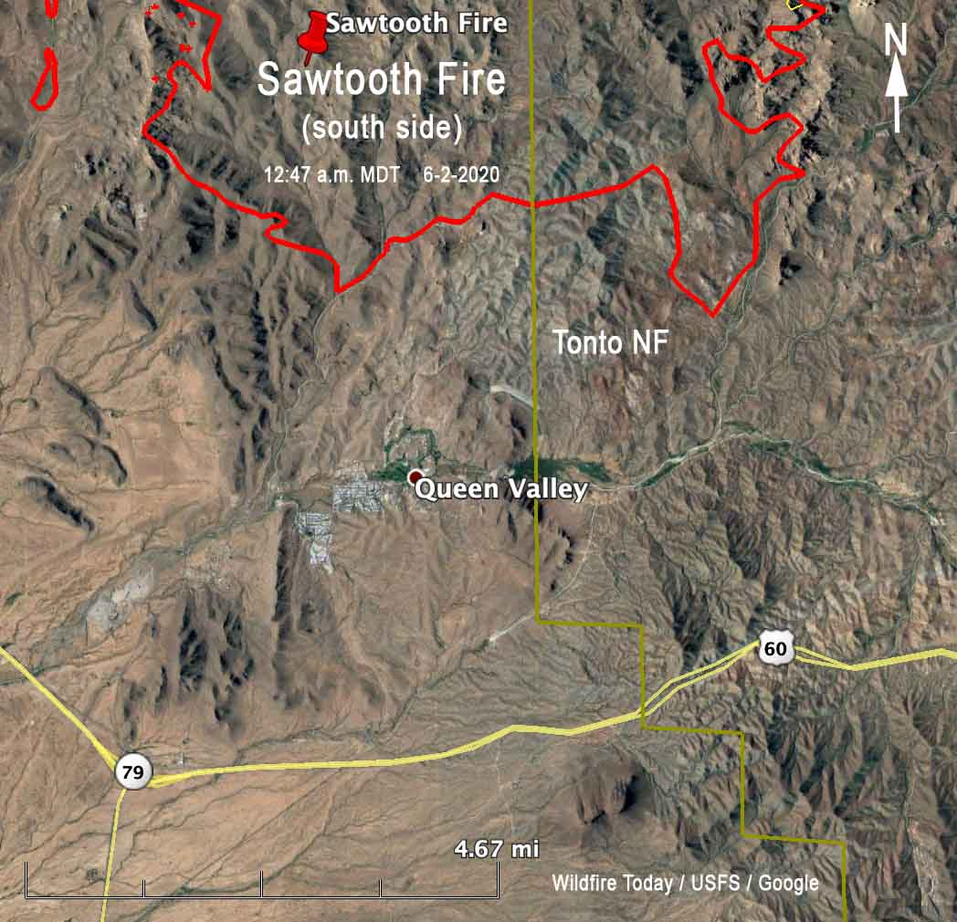 Manage your wildfire response with live feeds and sensor data. Evacuations Ordered For Sawtooth Fire East Of The Phoenix Area Wildfire Today