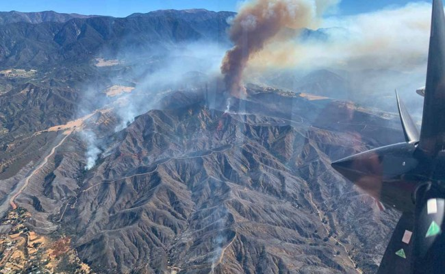 Apple Fire Near Cherry Valley California Spreads Closer
