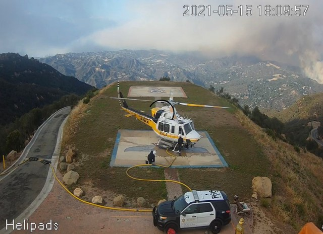 LA County Helicopter 14, a Bell 412 Palisades Fire