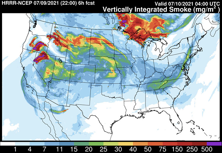 29/07/2021· july 29, 2021, 11:17 am utc by monica hersher and jiachuan wu large and unrelenting wildfires in the western united states and southern canada are producing so much smoke that even the east coast. Smoke Forecast Friday Night July 9 2021 Wildfire Today