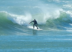 Surfing at Moat Creek