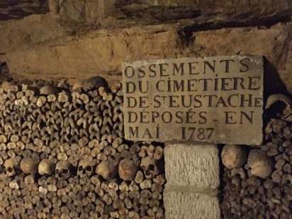 Bones are stacked according to the cemeteries from which they were exhumed