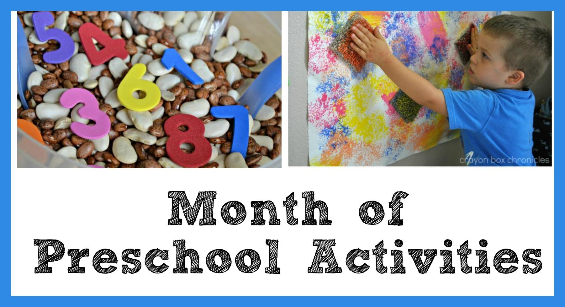 Preschool Activities Month One Printable Four Week Schedule