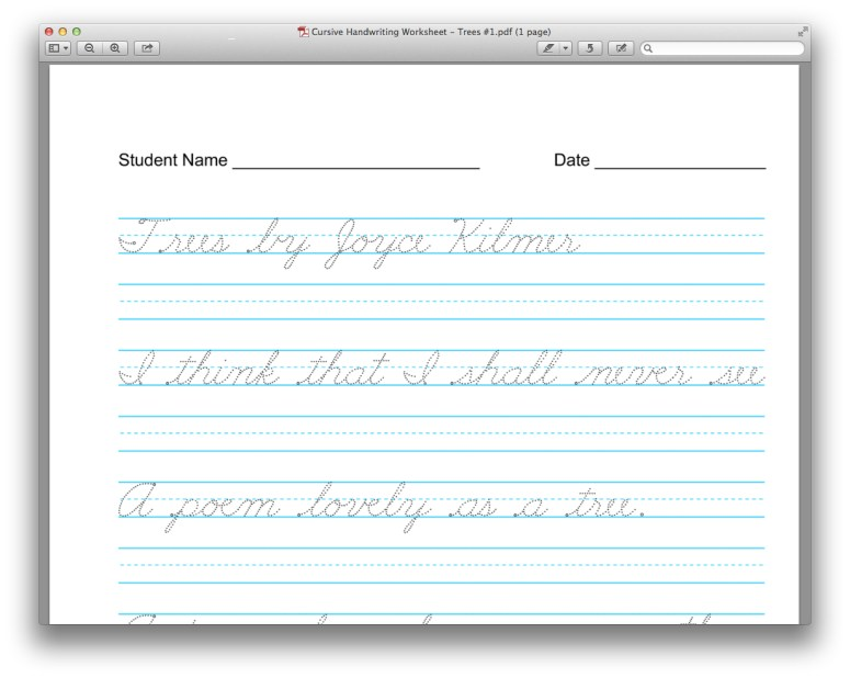 Useful and Free Resource Customize Your Copywork – Zaner Bloser Cursive Worksheets