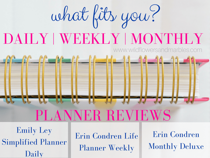Planner Review - Simplified Planner and Erin Condren - Daily | Weekly | Monthly