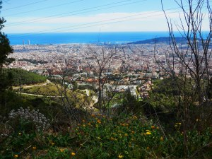 Photo of a view of Barcelona from Collserolla montain.