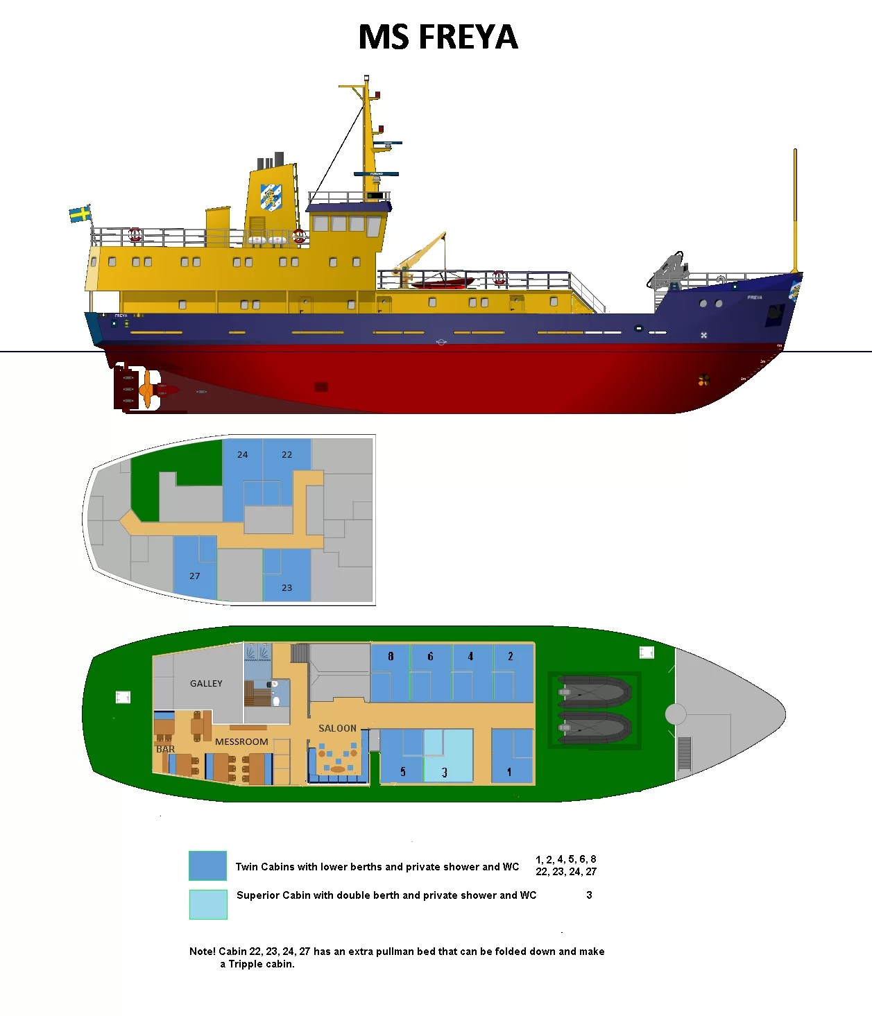 MS Freya preliminary deck plan 2017 4