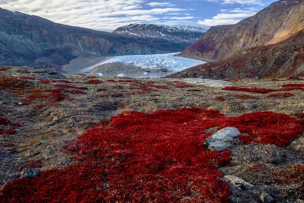 Arctic landscape on the remote east coast of Greenland