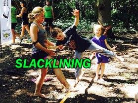 kids slacklining