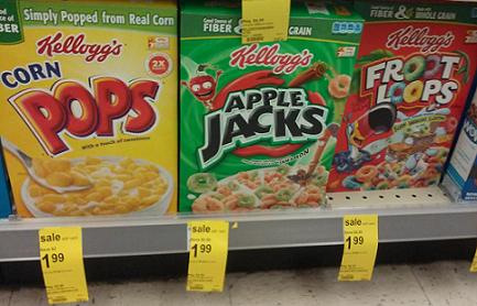 Apple Jacks 99¢ at Walgreens