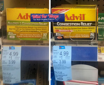 Advil Congestion As Low As 99¢!