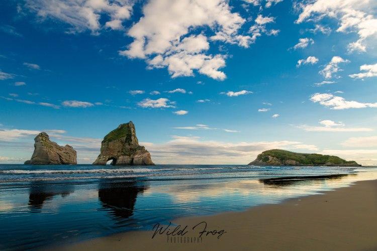 Archway islands - Wharariki Beach New Zealand.