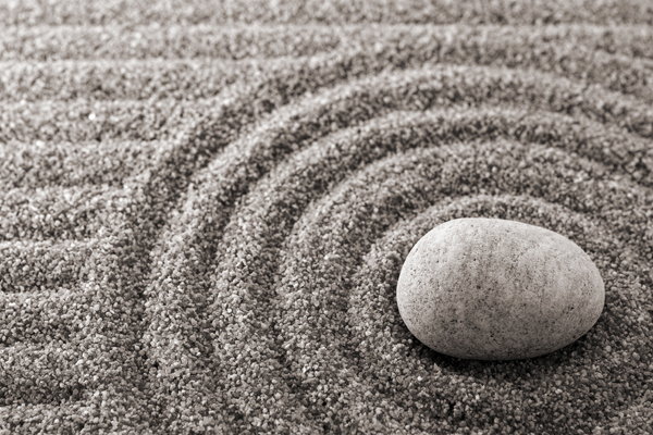 Being present calls for zen rocks in a circle!