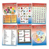 French Poster Vocabulary Set Colours, shapes, alphabet, numbers, days and month http://www.wildgoose.ac/product_p/fr0024.htm
