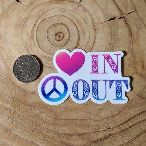 peace out vinyl sticker