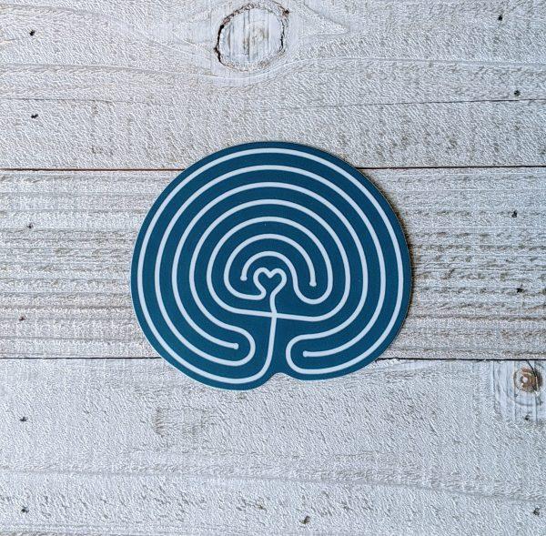 labyrinth meditation sticker