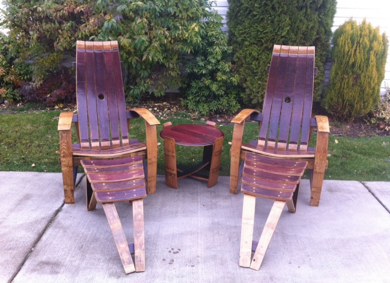 adirondack wine barrel chairs old folding rocking chair wildgrain woodworking adirondacks with drink table