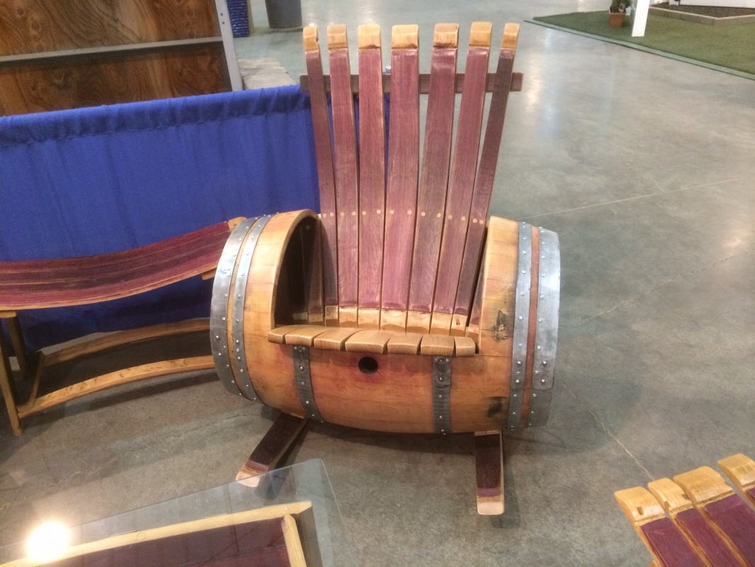 wine barrel chair parsons chairs pier one wildgrain woodworking rocker with storage smallwine built in