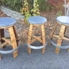 Bar Chairs Concrete Rolling Office Chair On Hardwood Floor Wildgrain Woodworking Wine Barrel Stools And Swivling