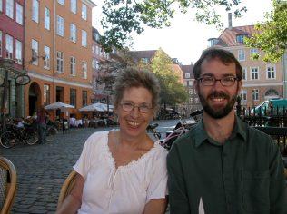Jane and David in Copenhagen.