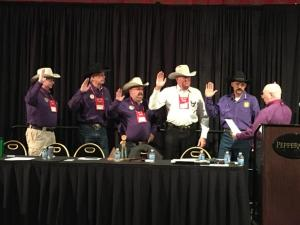 Wallowa County Sheriff Steve Rogers, second from left, was sworn in as a board director of the Western Sheriffs' Association March 6 in Reno, Nev.