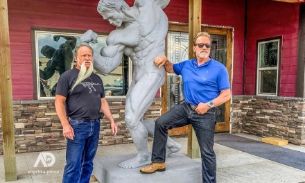 Arnold Schwarzenegger Statue gets its Patina at TW Bronze in Enterprise