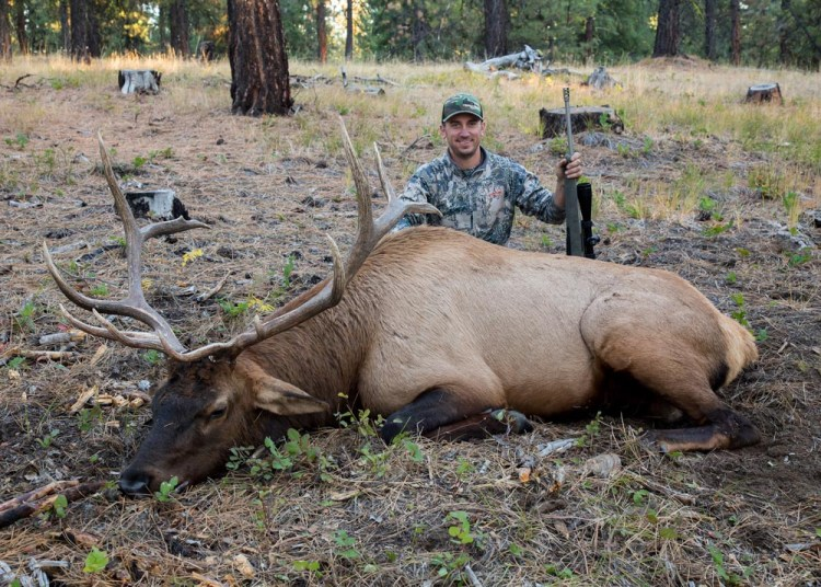 Richard Holstrom of Grants Pass had the winning raffle ticket for the 2017 Central/Southeast Oregon Elk Hunt and took this elk in the Ochoco Unit.