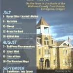 Courthouse Concert Series starts July 1, at Wallowa County Courthouse