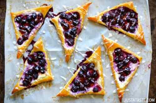 Huckleberry Cream Cheese Pastries