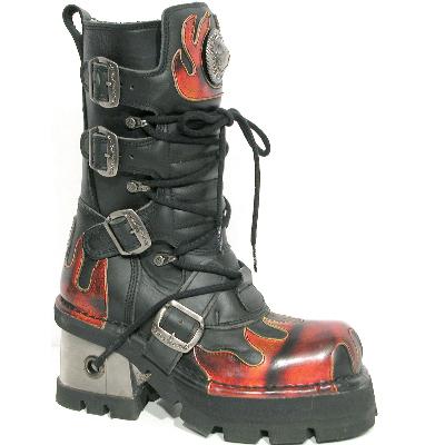 New Rock Boots 543 Itali Negro y Pulik Fuego, Planing Negro M8 Acero C Y O
