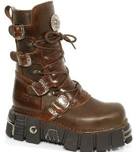New Rock Boots 373-s12 Alaska Caldera, Planing Marron New M3 Acero