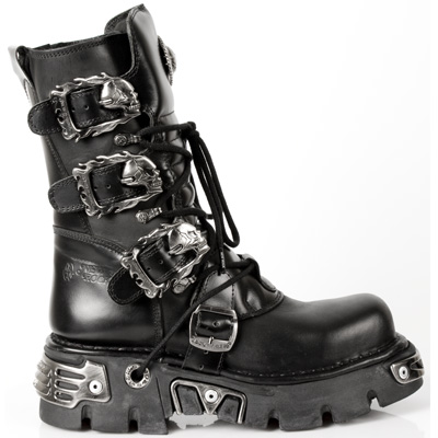 New Rock Boots 391-S1 Reactor Negro Toberas Ori Y Canal