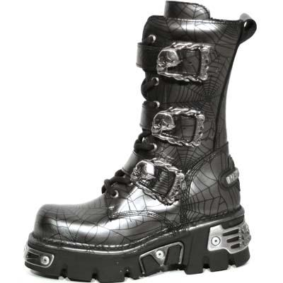New Rock Boots 710 ARAÑA ACERO, REACTOR NEGRO TOBERAS