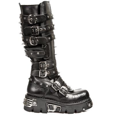 New Rock Boots 796 NOMADA NEGRO, ITALI NEGRO, REACTOR NEGRO TOBERAS