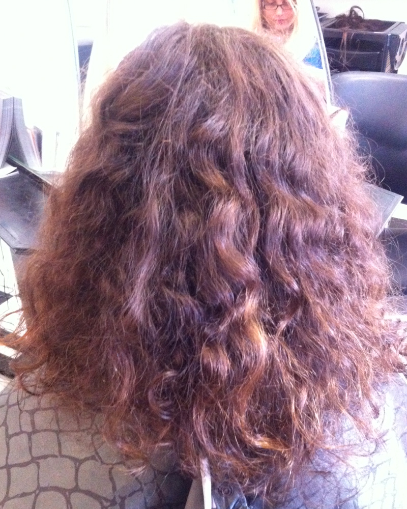brown midlength dreads before