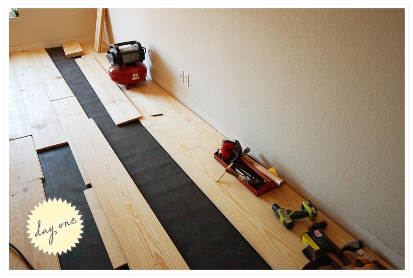 Tar Paper Under Laminate Flooring >> Rolling Up Our Diy Sleeves Wild Ink Press